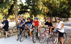 children kids bicycling